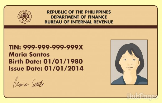 Philippines TIN Card
